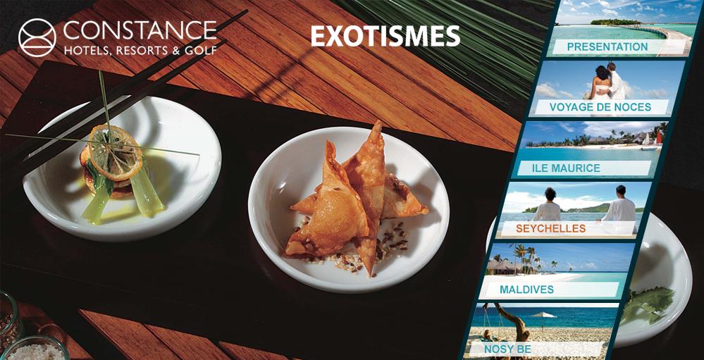 Constance Hôtels Expérience voyages de luxe 5 étoiles et ses restaurants